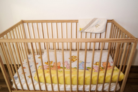 Ein gemütliches Kinderbett kann bereitgestellt werden.
