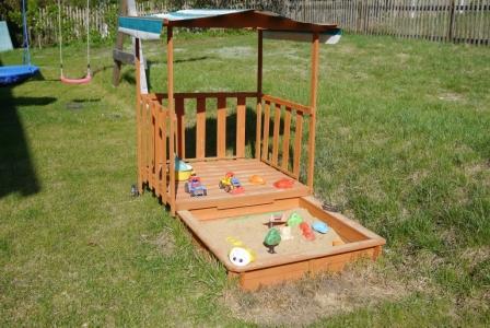 Unser Sandkasten für die Kleinen.